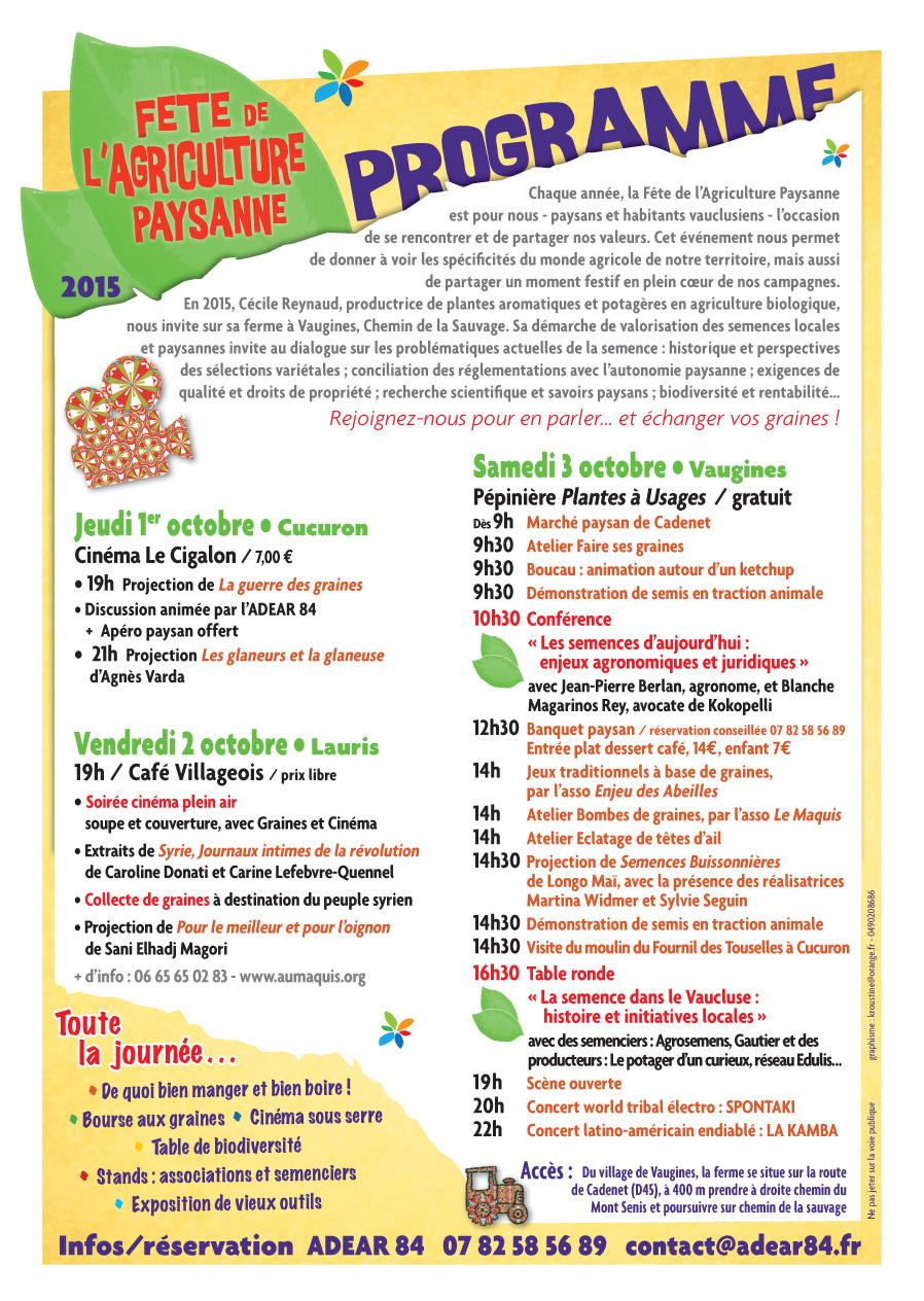 Programme-FETE-AGRICULTURE-PAYSANNE-2015